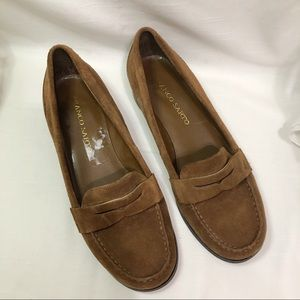 Franco Sarto brown suede loafers size 8.5